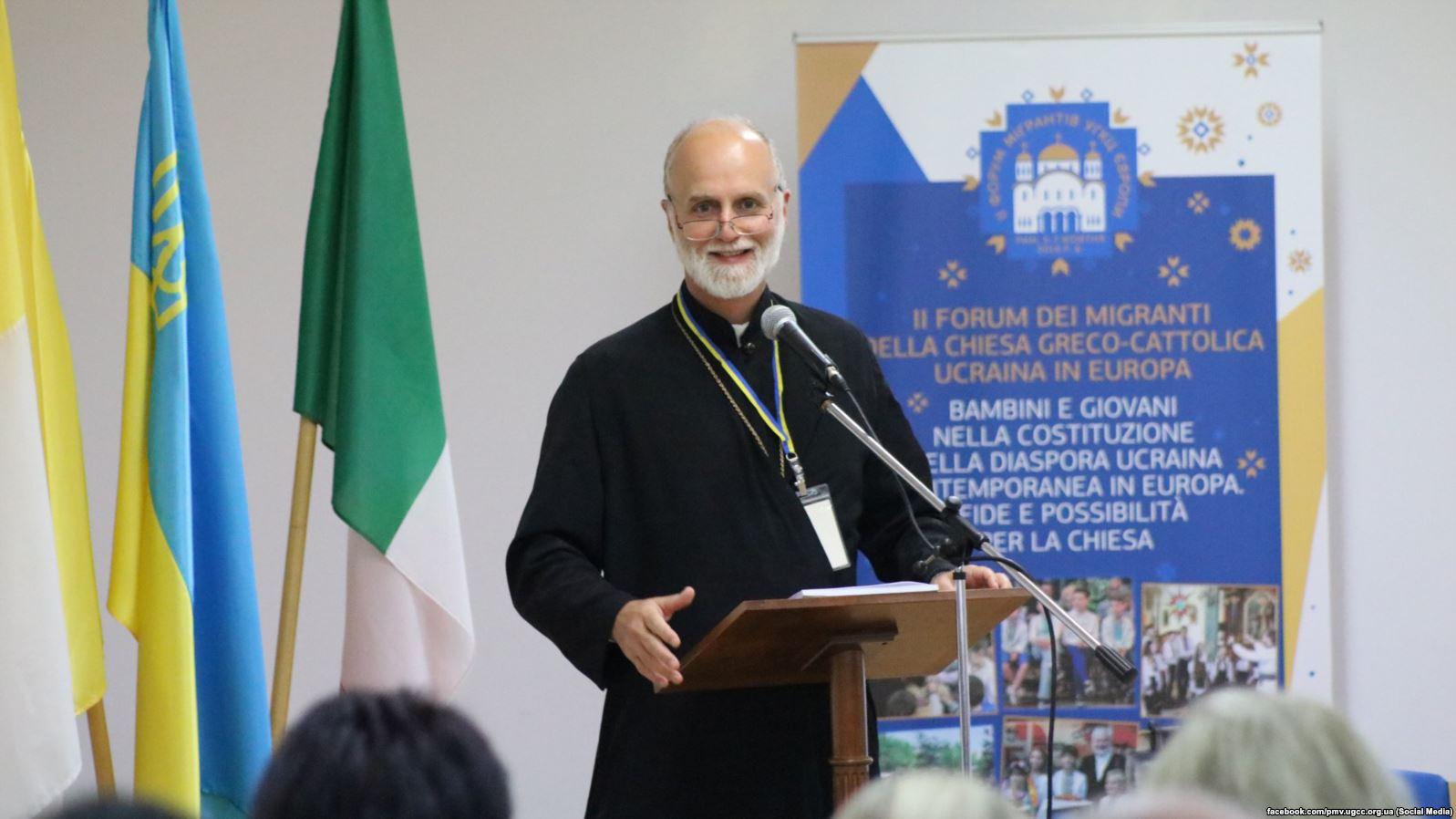Борис Ґудзяк, президент УКУ,єпископ Паризької єпархії на ІІ Форумі мігрантів УГКЦ. Рим, 6 жовтня 2018 року