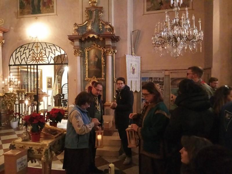 Служба Божа у церкві Св. Варвари, Відень
